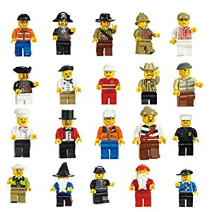 Imixlot 20 Pcs Set of Community Figures Family Set Minifigures Men People Minifigs Randomly Send