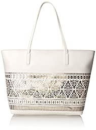 Vince Camuto Lila Travel Tote, White/Pale Green, One Size