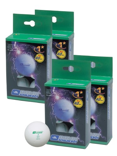 Schildkrot Elite 1 Star balls (pack of 24) - Pelota de ping pong ( 2 estrellas, pack de 24, 40 mm ) , color blanco