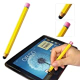 First2savvv yellow pencil-shaped luxury stylus pen for Vodafone Tab 3 7.0 Tablet&Lenovo S6000 IdeaTab A2109 IdeaTab Lynx Miix 10 IDEATAB A1000 IDEATAB A3000