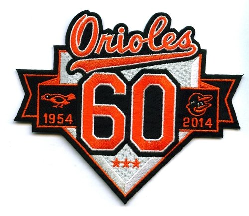 Baltimore Orioles 60th Anniversary 1954-2014 MLB Baseball Jersey Patch at Amazon.com