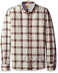 Rosé Pistol Men's Long Sleeve Victorville Checked Shirt, Ivy Green, L