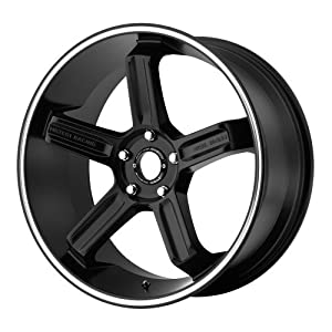 Motegi Racing  MR122 Satin Black Wheel with Machined Flange (18×9″/5×4.5″)