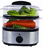 HOMEIMAGE 2 Tier Electric Food Steamer HI7125