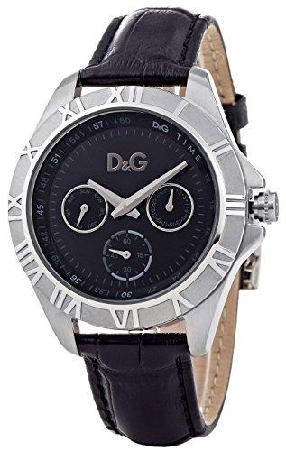 dolce-gabbana-dw0648-montre-mixte-analogique-cadran-noir-bracelet-acier-noir