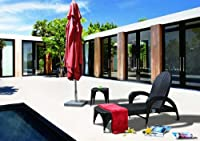 Vig Furniture S2063 2 Piece Conversation Set Chaise Lounge & Side Table