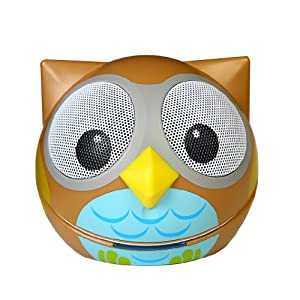 Zoo-Tunes Portable Mini Character Speakers for MP3 Players, Tablets, Laptops etc. (Owl)