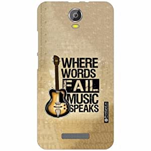 Micromax Canvas Juice 2 Back Cover - Silicon Words Fail Designer Cases