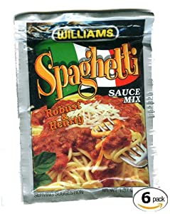 Williams Spaghetti Sauce Mix - 6 Packages