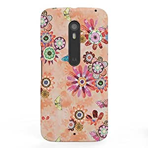 Koveru Designer Printed Protective Snap-On Durable Plastic Back Shell Case Cover for Motorola Moto X Style - Flower and Butterfly