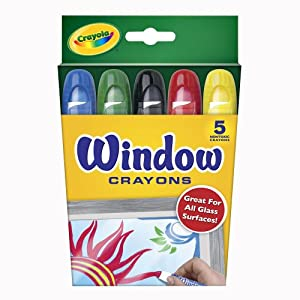 Crayola Window Crayon 5-Color Set (52-9765)
