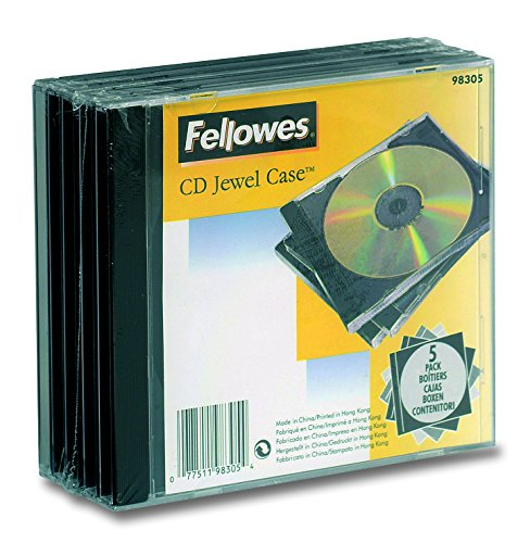 Fellowes 137781 Custodia per CD, Confezione da 5 Pezzi