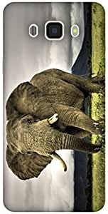The Racoon Lean printed designer hard back mobile phone case cover for Samsung Galaxy J7(2016). (Elephant)