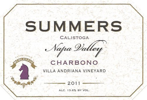 2011 Summers Calistoga Napa Valley Charbono 750 Ml