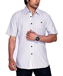 Moksh Men's Striped Casual Shirt V2IMS0414-10 (X-Large)