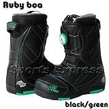 11 BLAX ruby boa boots black/greenブラックス ルビー ボア ブーツ