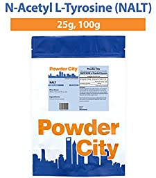 Powder City N-Acetyl L-Tyrosine (NALT) (100 Grams)