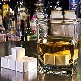 DimsumShop 4 Pcs Ceramic Whisky Stones Ice Cube Glacier Whiskey Chilling Rocks