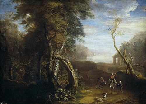 spierinckx-pieter-paisaje-de-italia-17-century-oil-painting-30-x-42-inch-76-x-107-cm-printed-on-poly