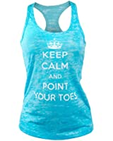 Covet Dance Clothing - Keep Calm and Point Your Toes - Burnout Tank