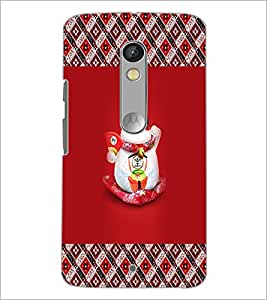 PrintDhaba Happy Kitty D-3033 Back Case Cover for MOTOROLA MOTO X PLAY (Multi-Coloured)