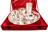 IndianArtVilla-High-Quality-Silver-Plated-7-Piece-Dinner-Set-Thali-Set-with-gift-Packing-Box-for-use-Dinerware-Restaurant-Hotel-Home-Gift-item-Home-Decore