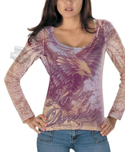 Harley-Davidson Womens Multi Fierce Long Sleeve Shirt Large