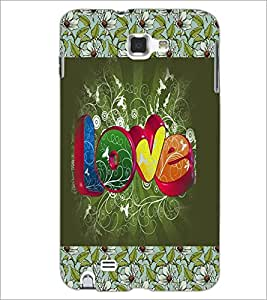 PrintDhaba Love D-3070 Back Case Cover for SAMSUNG GALAXY NOTE 1 (Multi-Coloured)