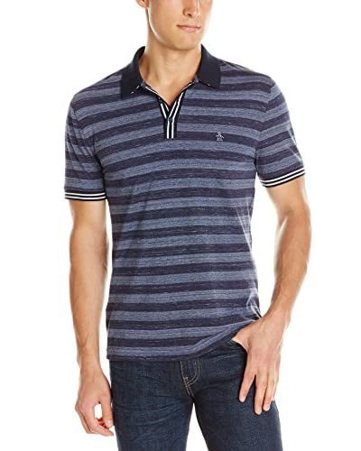 Original Penguin Men's Heather Auto Stripe Polo