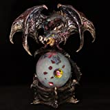 Puckator DRG319 Dark Legends Celtic Dragon on Globe with LED 17 x 25 x 28 cm
