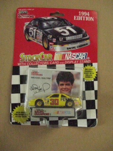 Racing Champions #30 Michael Waltrip 1/64 scale diecast replica stock car with collectible card 1994 Edition