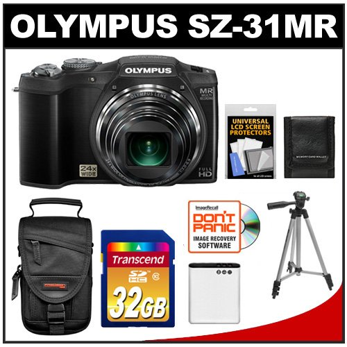 Olympus SZ-31MR iHS 3D Still Digital Camera (Black)