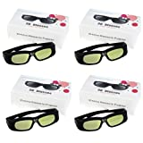 WMicroUK Top Quality 4PCS Brand New 3D active DLP-Link glasses For Optoma, Acer, BenQ, NEC, ViewSonic, Sharp, Dell