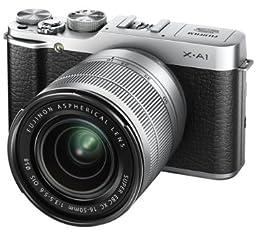 FUJIFILM デジタルカメラミラーレス一眼 X-A1ダブルズームレンズキット シルバー F X-A1S/1650/50230KIT