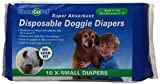 Clean Go Pet Disposable Doggie Diapers  –  Convenient Diapers for Incontinent Dogs, Dogs in Heat, and Puppies, X-Small