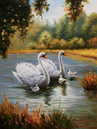 The Perfect Effect Canvas Of Oil Painting 'White Swans In The Lake' ,size: 8x11 Inch / 20x27 Cm ,this Vivid Art Decorative Prints On Canvas Is Fit For Dining Room Artwork And Home Artwork And Gifts