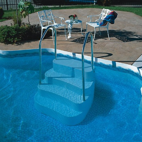 Blue Wave Lumi O Oasis In Ground Pool Step Handrail Aluminum Inground Pool Step