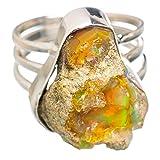 Ethiopian Opal, Opale Éthiopienne Argent Sterling 925 Bague 9.25
