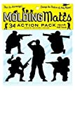 Molding Mates Action Pack Military, Karate, Ninjas 34 Molding Mates Home Decor Peel and Stick Vinyl