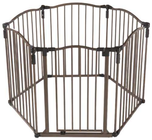Superyard 3 in 1 Metal Curve Gate, Bronze