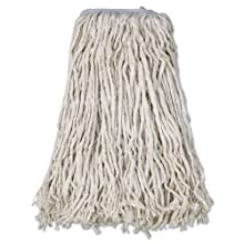 Boardwalk CM02032S Mop Head, Cotton, Cut-End, White, 4-Ply, #32 Band (Case of 12)
