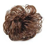SODIAL(TM) Long Curly Brown Hair Wig Ponytail Holder Scrunchie Hairpiece