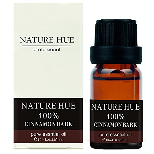 Nature Hue - Cinnamon Bark Essential Oil 10 ml, 100% Pure Therapeutic Grade, Undiluted
