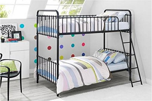 Novogratz Berkshire Iron Twin/Twin Bunk Bed (Black)