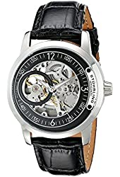 Stuhrling Original Men's 837.02 Delphi Automatic Skeleton Black Dial Watch