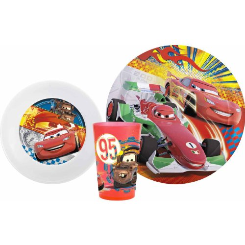 Zak Designs Disney Cars 3-Piece Plate, Bowl And Tumbler Dinner Set front-912172