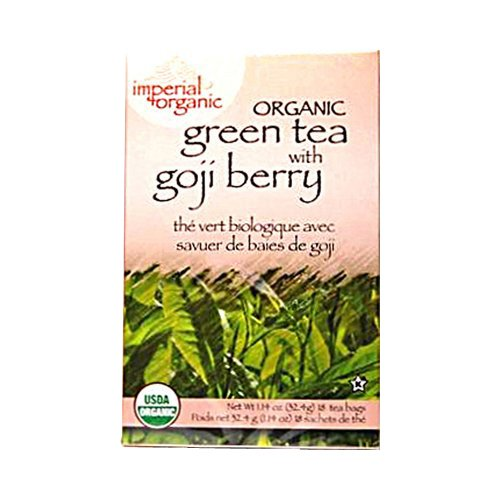 Uncle Lees Tea Imperial Organic Green Tea With Goji Berry 18 Tea Bags