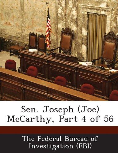 Sen. Joseph (Joe) McCarthy, Part 4 of 56