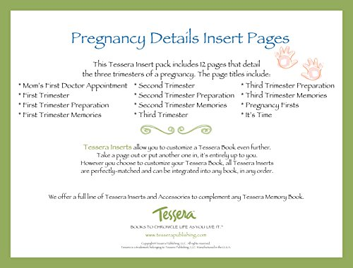 Tessera Baby Books Baby Memory Book Insert Pack, Pregnancy Details - 1