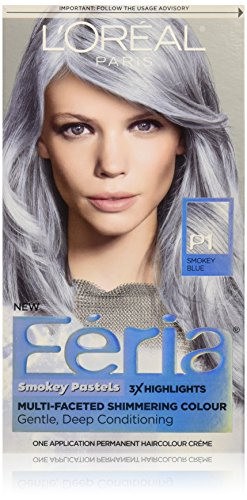 L'Oreal Paris Hair Color Feria Pastels Dye, Smokey Blue P1